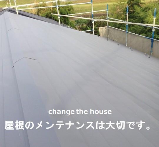 屋根のメンテナンスは大切です。