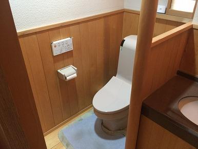 トイレ内手すりの設置工事